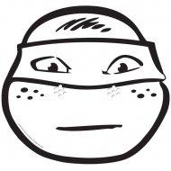 Masque Tortue Ninja Michelangelo � colorier