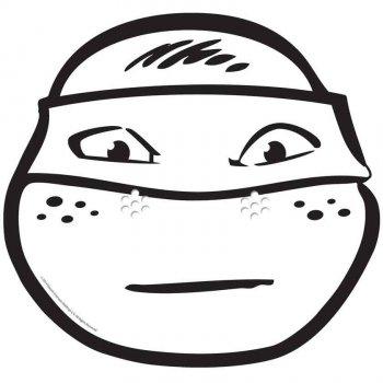 Masque Tortue Ninja Michelangelo à colorier