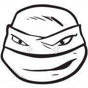 Masque Tortue Ninja Leonardo � colorier