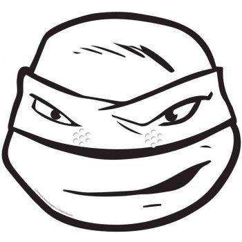 Masque Tortue Ninja Leonardo à colorier
