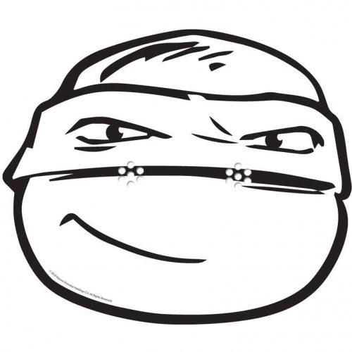 Masque Tortue Ninja Raphaël à colorier