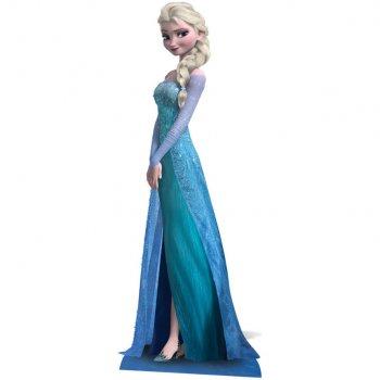 Silhouette Géante Carton Reine des Neiges Elsa (161 cm)
