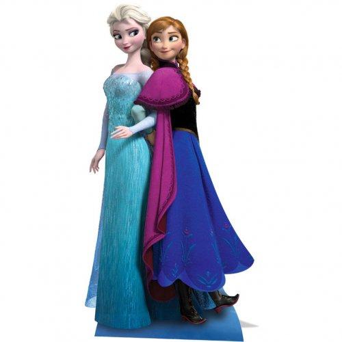 Silhouette Géante Carton Reine des Neiges Elsa et Anna (162 cm)
