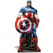 Silhouette G�ante Carton Avengers Captain Am�rica (177 cm)