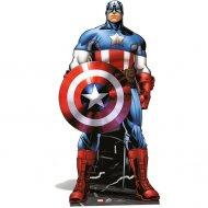 Silhouette Géante Carton Avengers Captain América (177 cm)