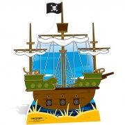 Silhouette G�ante en carton Bateau pirate (120 cm)