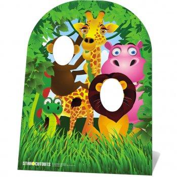 Photo Fun Géant en carton Animaux de la Jungle