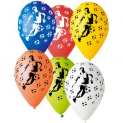 10 Ballons Foot Multicolore