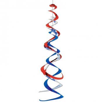 Décoration Spirale Bleu Blanc Rouge