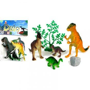Set 4 Dinos + Accessoires