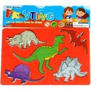 1 Pochoir 5 Dino