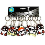 12 Porte-clés Pirate (5 cm) - PVC