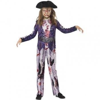 Déguisement Zombie Pirate Fille