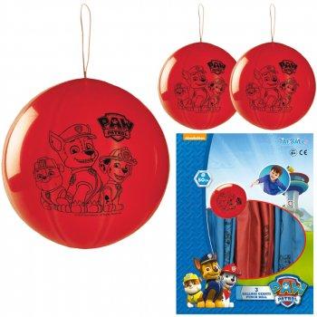 3 Ballons Punchball Pat Patrouille (50 cm)