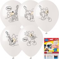Kit 5 Ballons à Colorier Mickey + 3 Feutres