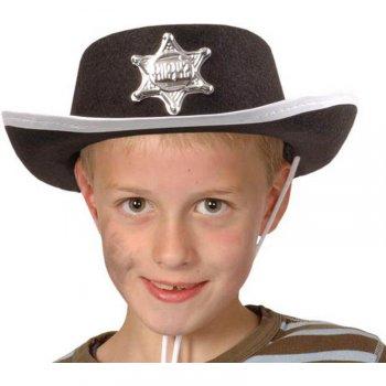 Chapeau de Cowboy Sherif Enfant Noir Taille 55 à 57