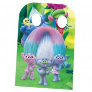 Photo Fun Géant en carton Trolls (136 cm)