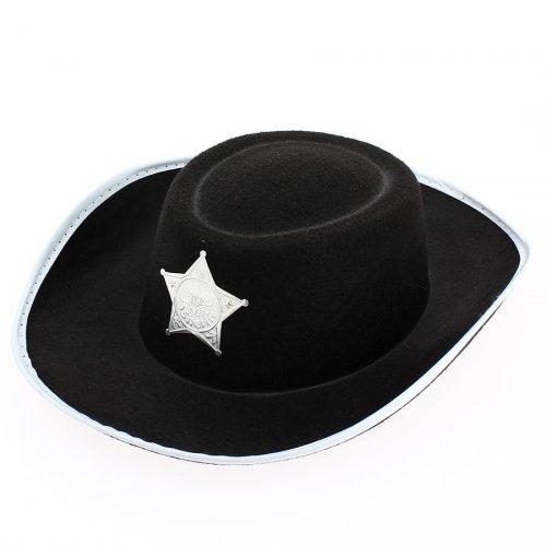 Chapeau de Cowboy Sherif Enfant Noir sans cordelette