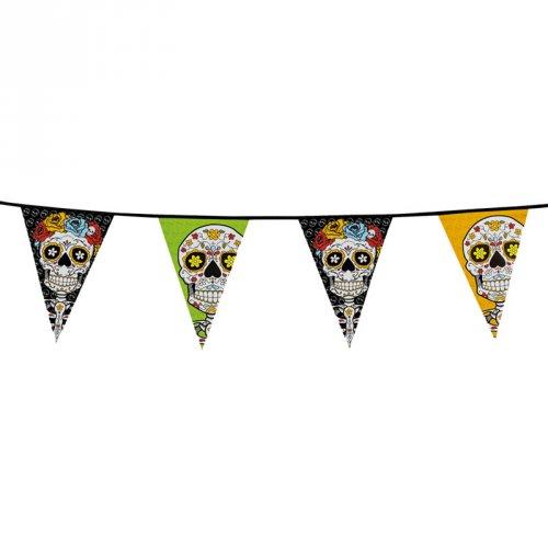 Guirlande Fanions Dia de Los Muertos (10 m)