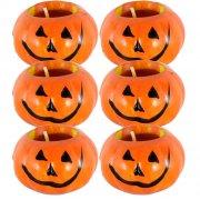 6 Bougies Citrouille d'Halloween - Céramique
