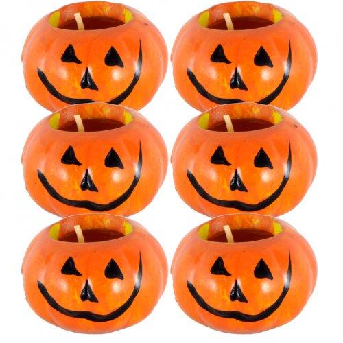 6 Bougies Citrouille d Halloween - Céramique