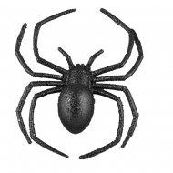 Araignée 3D (16 cm) - Noir Glitter