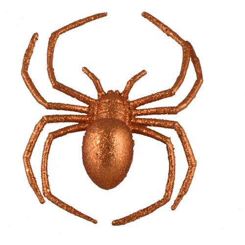 Araignée 3D (16 cm) - Orange Glitter