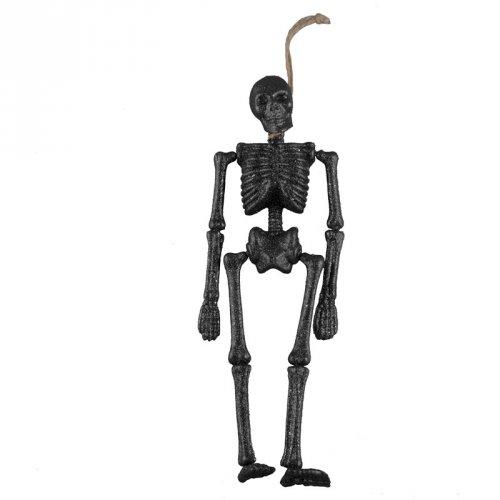 Squelette 3D (41 cm) - Noir Glitter
