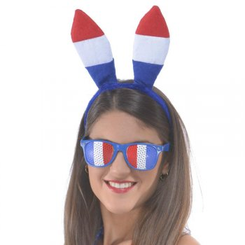 Serre Tête Lapin Tricolore France