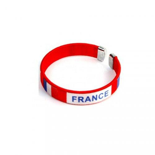 Bracelet Supporter France - Rouge