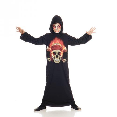 Déguisement Spectre Tête de Mort Enflammée