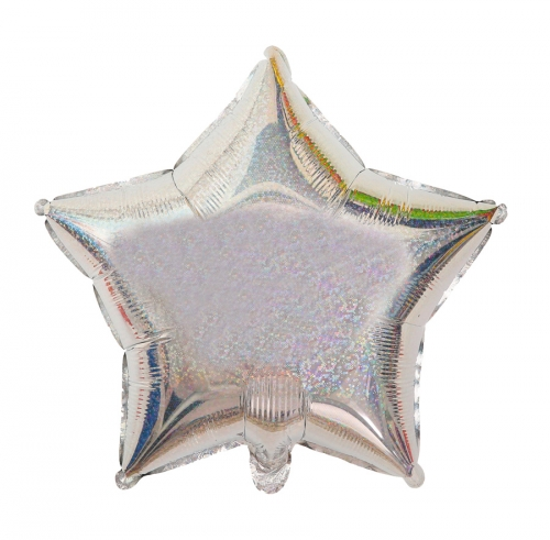 Ballon Mylar Etoile Argent Irisé