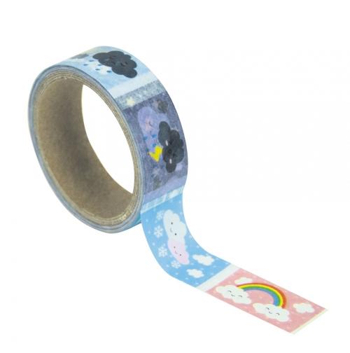 Masking Tape Nuages Kawaïï prédécoupé