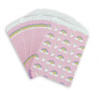 25 Sachets Cadeaux Licorne et Rainbow Kawaïï (17 cm) - Papier
