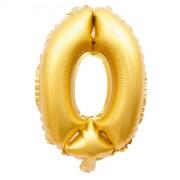 Ballon d'Anniversaire Géant Chiffre 0 Or