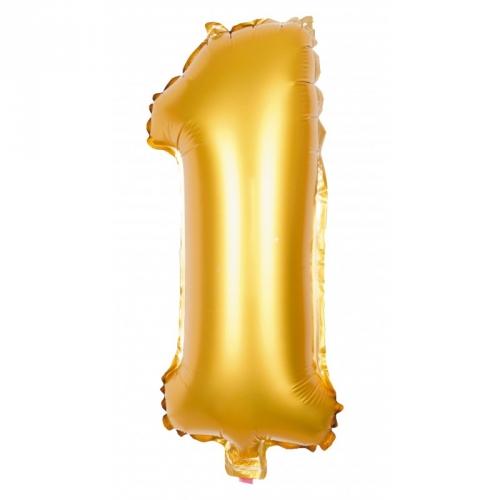 Ballon d Anniversaire Géant Chiffre 1 Or (100 cm)