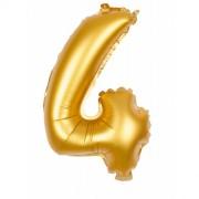 Ballon d'Anniversaire Géant Chiffre 4 Or (100 cm)