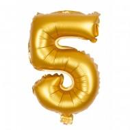 Ballon d'Anniversaire Géant Chiffre 5 Or (100 cm)
