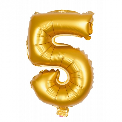 Ballon d Anniversaire Géant Chiffre 5 Or (100 cm)