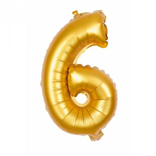 Ballon d Anniversaire Géant Chiffre 6 Or (100 cm)
