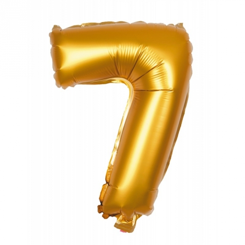 Ballon d Anniversaire Géant Chiffre 7 Or (100 cm)