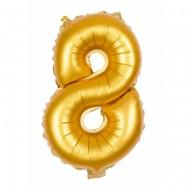 Ballon d'Anniversaire Géant Chiffre 8 Or (100 cm)