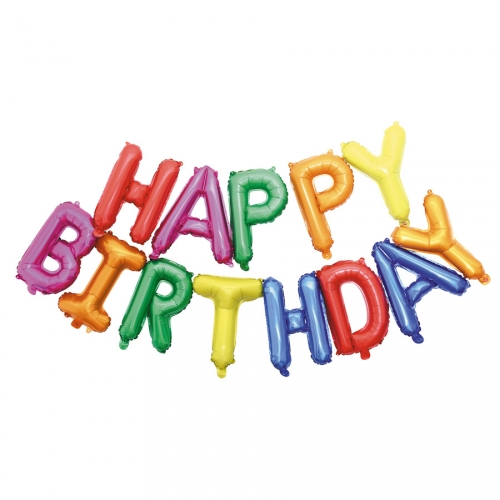Ballon Happy Birthday Multicolore  (305 cm)