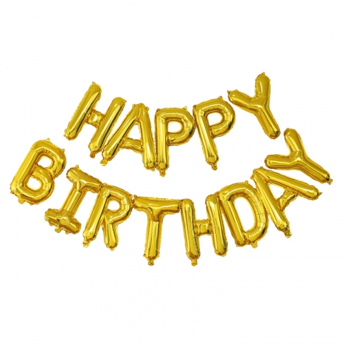 Ballon Happy Birthday Or  (305 cm)
