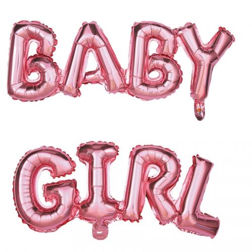 """Ballon Lettres - """"BABY GIRL"""" (118 cm)"""
