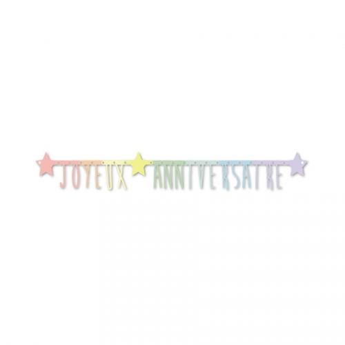 Guirlande Lettres Joyeux Anniversaire Multicolores