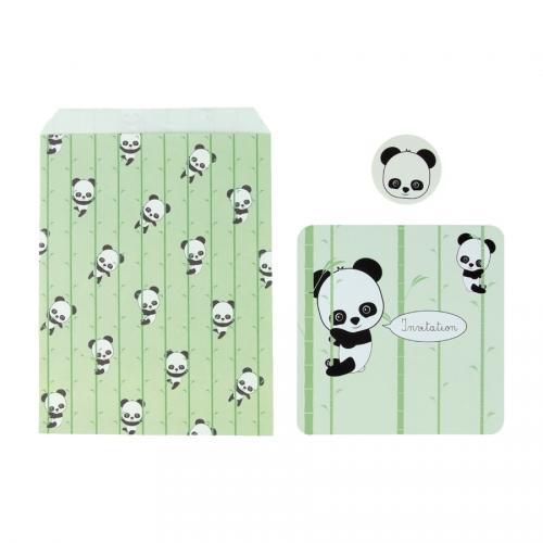 8 Invitations - Baby Panda