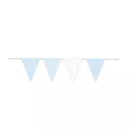 Guirlande Fanions - Baby Blue (3 m)