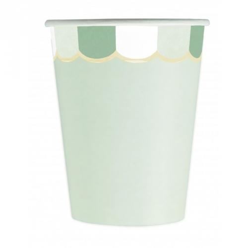 8 Gobelets Vert Pastel