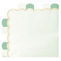 Contient : 1 x 16 Serviettes Vert Pastel